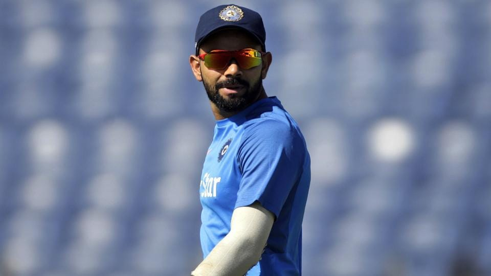 India  captain Virat Kohli during their practice session ahead of the first Test against Australia in Pune, on Wednesday.