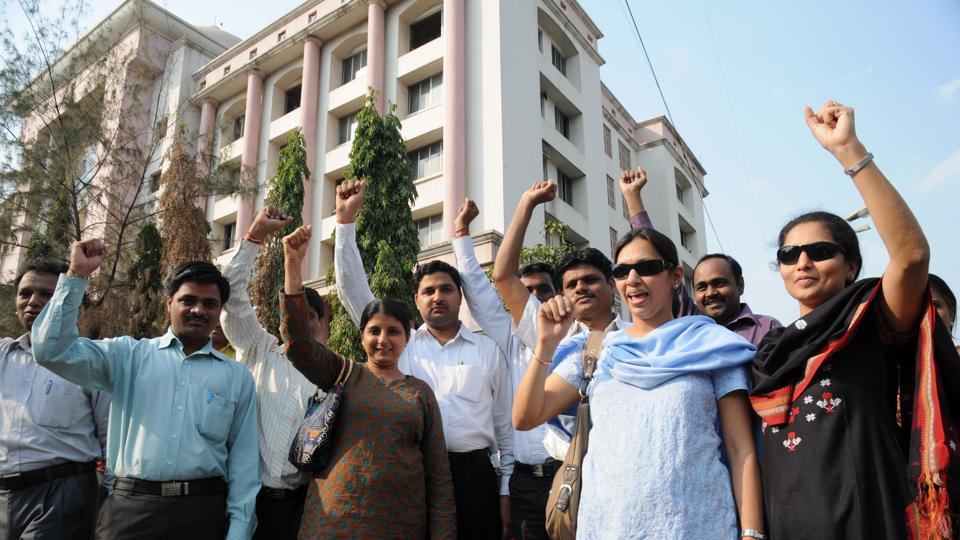 Teachers' unions had conducted a protest march from Vashi station to the HSC board office in the past.