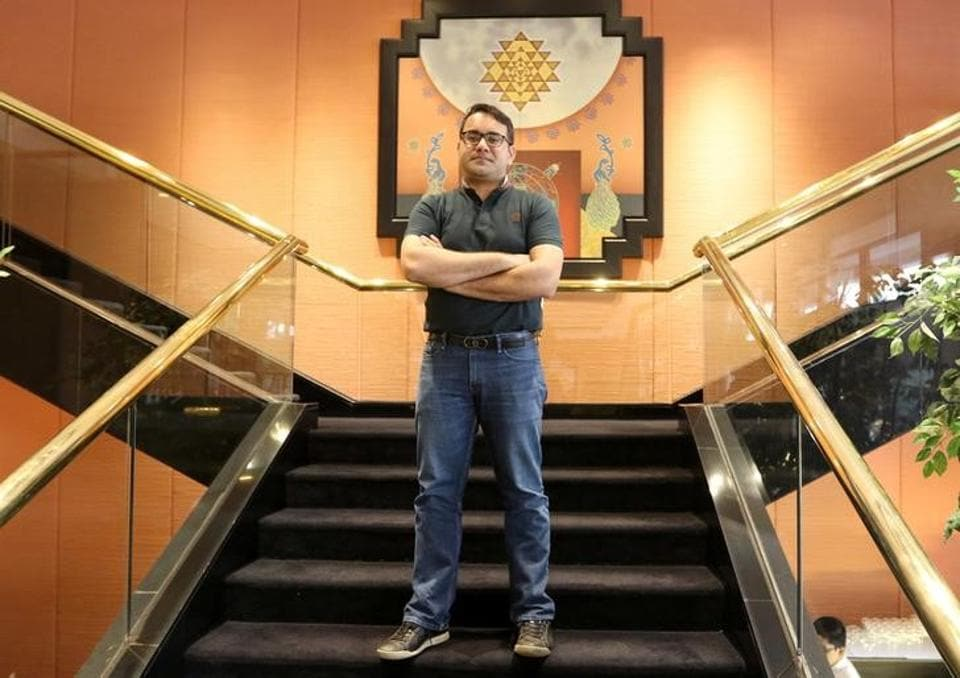 Kunal Bahl, CEO of India's e-commerce firm Snapdeal, poses after an interview with Reuters in Mumbai