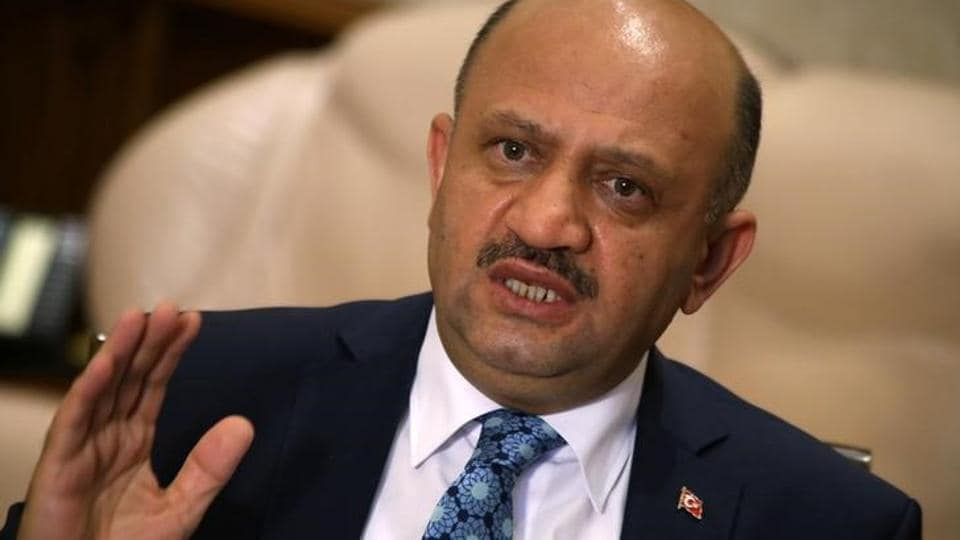 File photo of Turkey's defence minister Fikri Isik at an interview with Reuters in Ankara in August 2016.