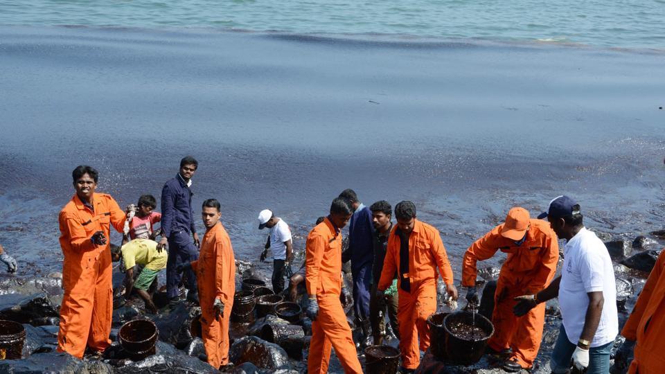 Chennai Oil Spill,Kamarajar Port Ltd,Ennore