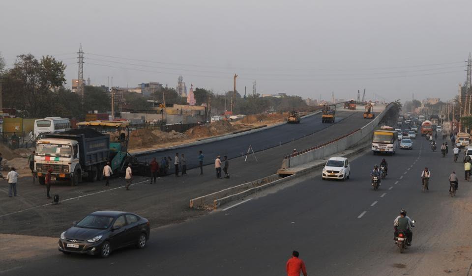 Gurgaon,flyover,Hero Honda Chowk