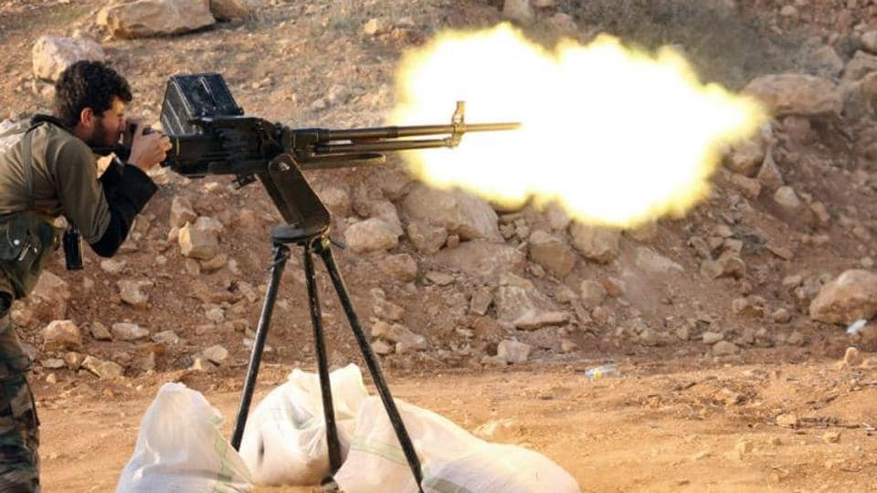 More than 130 people, mostly combatants, have been killed in three days fighting between jihadists close to the Islamic State group and rebels in southern Syria.