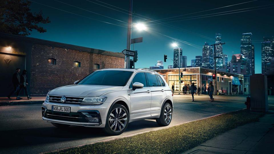 Volkswagen Tiguan was first showcased at the Delhi Auto Expo last year.