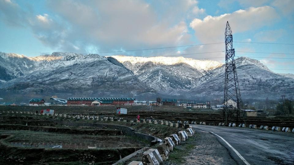 At Banihal station, Jammu and Kashmir.