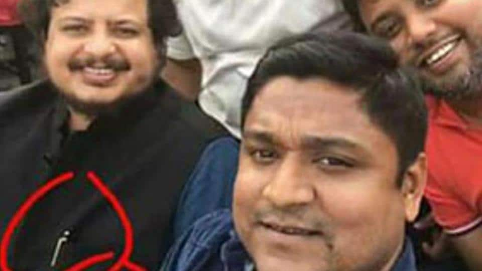 A photograph posted on social media shows CPM Rajya Sabha MP with his Apple watch and Mont Blanc pen circled in red.