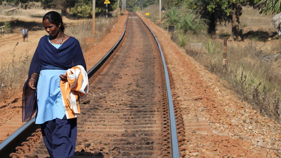 Savitri tiptoes along the track, making sure that everything, right from fishplates — metal pieces that hold adjacent rails — to the tracks on which at least two dozen goods and a passenger train run everyday, are in order.