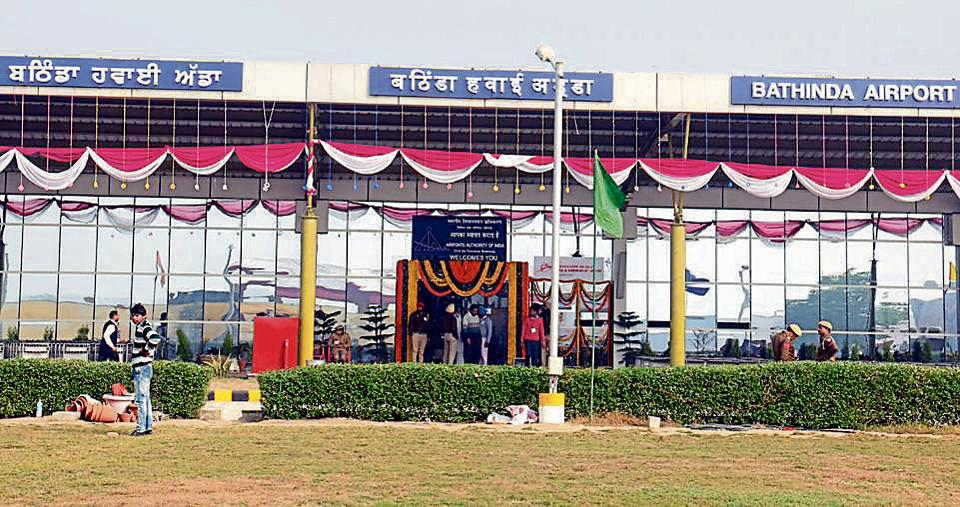 A view of the domestic airport in Bhatinda.