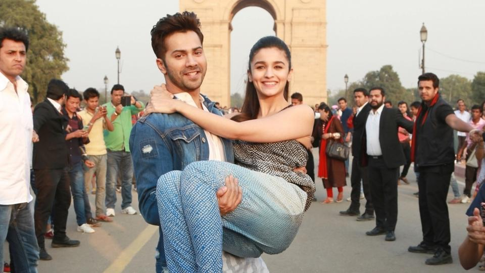 Actors Alia Bhatt and Varun Dhawan promote Badrinath Ki Dulhania in New Delhi. (IANS)