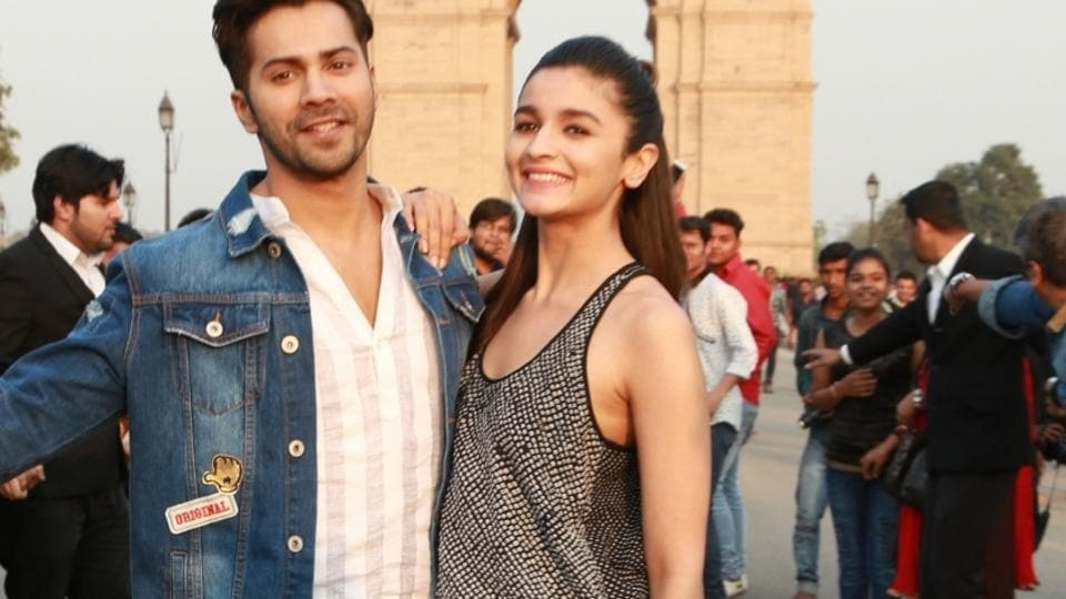 Alia Bhatt and Varun Dhawan at India Gate in New Delhi. (IANS)