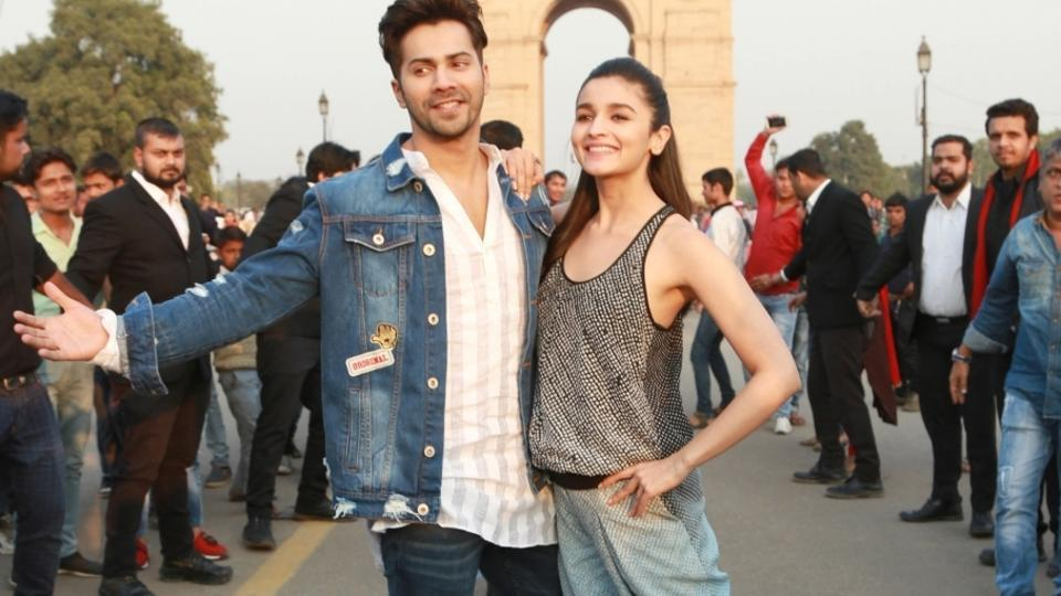 New Delhi: Actors Alia Bhatt and Varun Dhawan promote their upcoming film