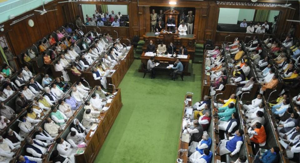 A view of the state assembly in Patna where Bihar's economic survey 2016-17 was tabled on Thursday.