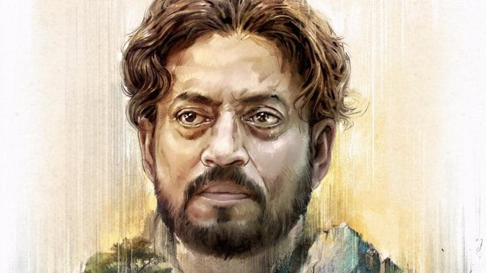 Irrfan Khan intrigues with his new look from Bangladeshi film No Bed Roses aka Doob. A sketchy terrain of hills and greenery forms his body.