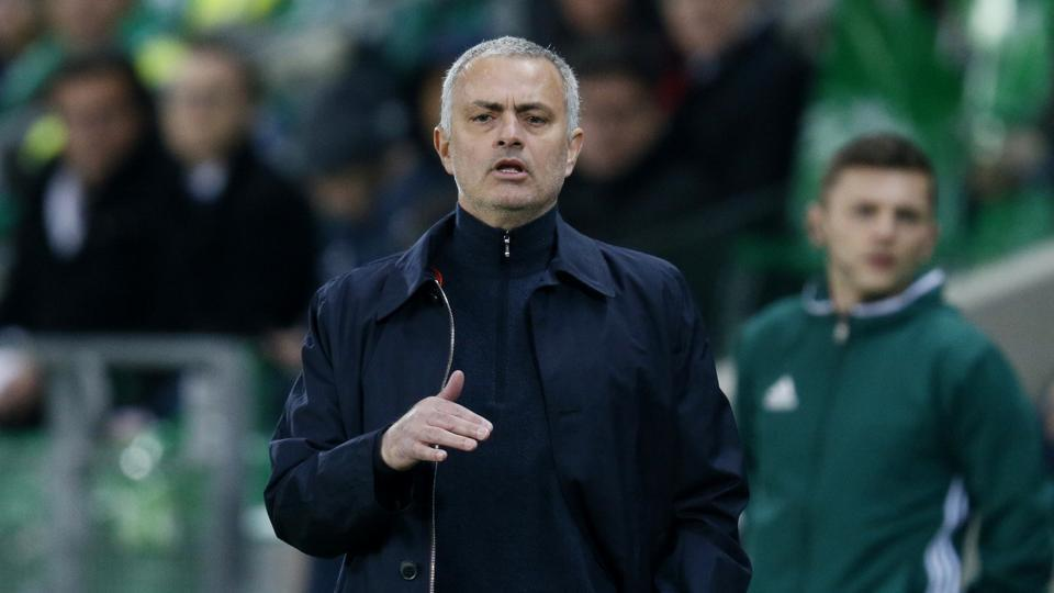 Manchester United manager Jose Mourinho during their Europa League match against Saint-Etienne on Wednesday.