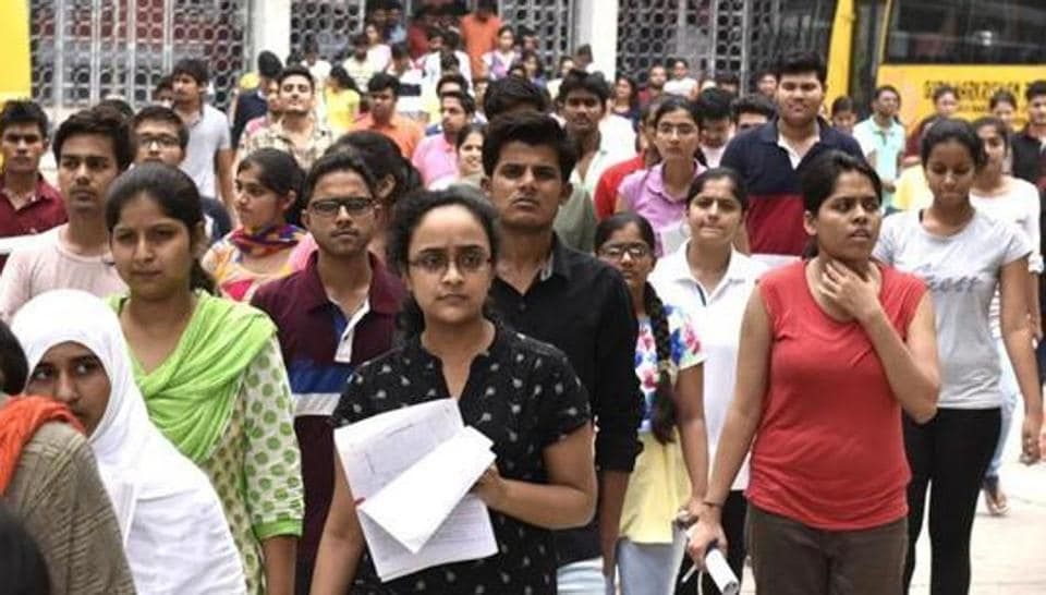 Students leave the campus of Guru Harkrishan Public School at Vasant Vihar after appearing for NEET 2, All India Pre Medical Entrance Exam, in New Delhi on Sunday, July 24, 2016.