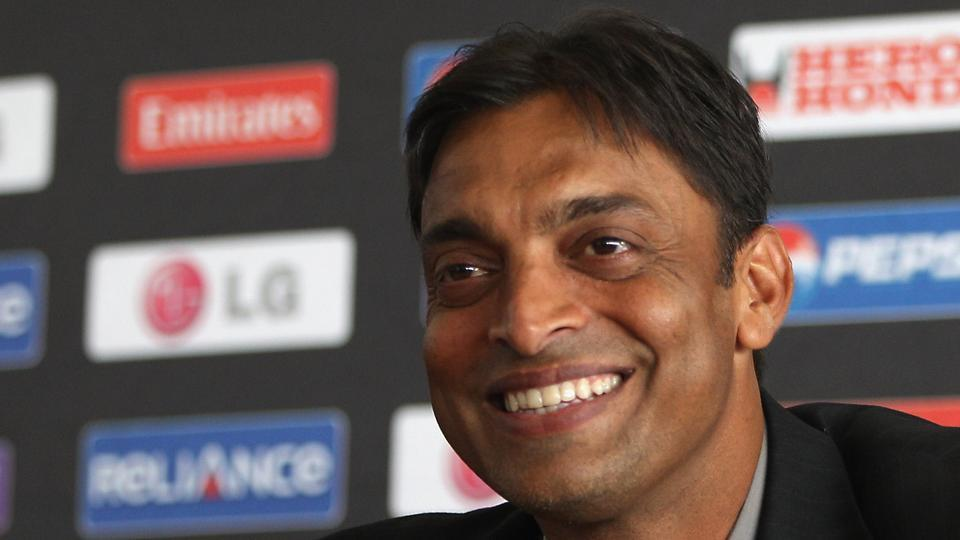 COLOMBO, SRI LANKA - MARCH 17: Shoaib Akhtar of Pakistan at a press conference to announce his retirement from international cricket at the R Premadasa International Stadium on March 17, 2011 in Colombo, Sri Lanka. (Photo by Michael Steele/Getty Images)