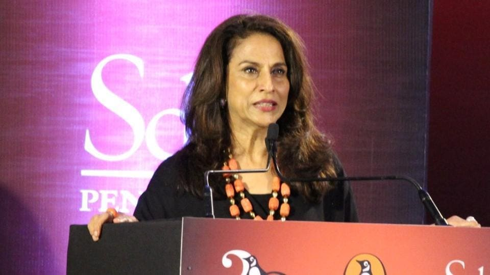 Columnist Shobhaa De in January 2017. De's tweet poking fun at an overweight Mumbai policeman invited a lot of backlash at her, especially after the cop clarified his weight was a result of a diabetic problem.