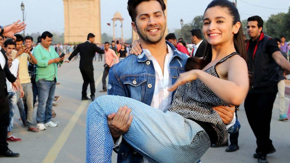 Varun Dhawan and Aliya Bhatt during the promotion of Badrinath Ki Dulhania. (PTI)