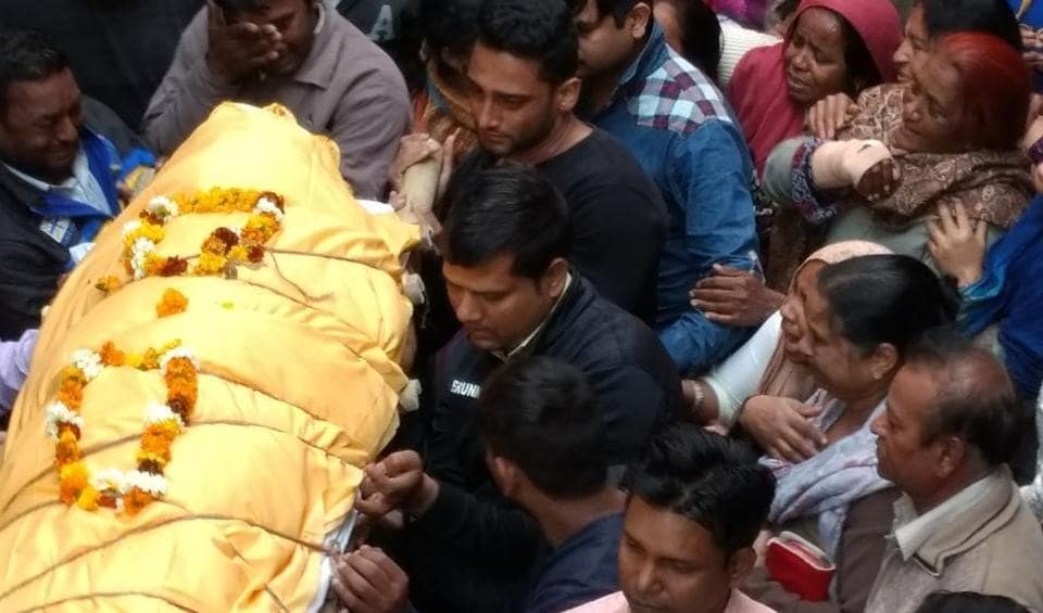 Shekhar Yadav died on the spot after being shot at in the abdomen.