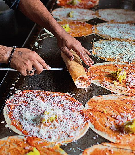 There are at least thirty kinds of desi dosas listed on foodie sources. While some are 'traditional' recipes, others seem to be born out of sheer exuberance, like the beetroot dosa