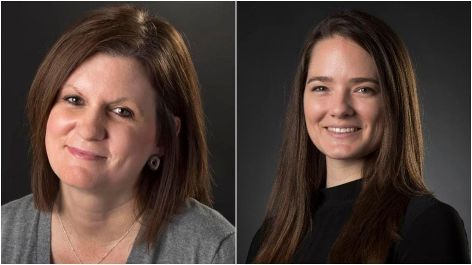 Laura Bauer (L) and Katy Bergen, two reporters with The Kansas City Star, talk to HT about how the local community is trying to come to grips with the killing.