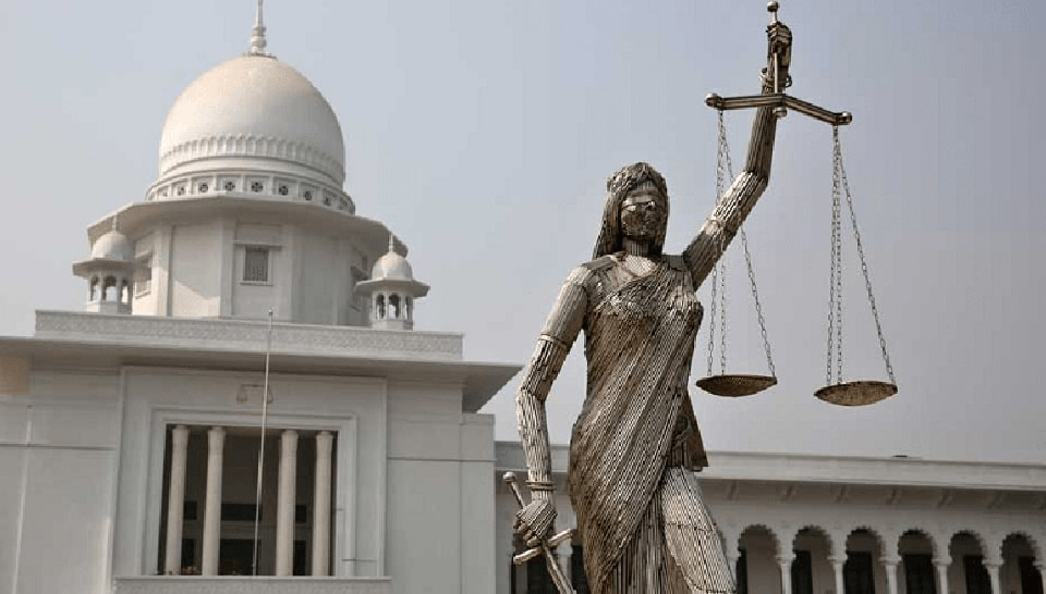 Thousands of people marched in Bangladesh's capital on Friday to demand a Lady Justice statue be removed from the Supreme Court complex.