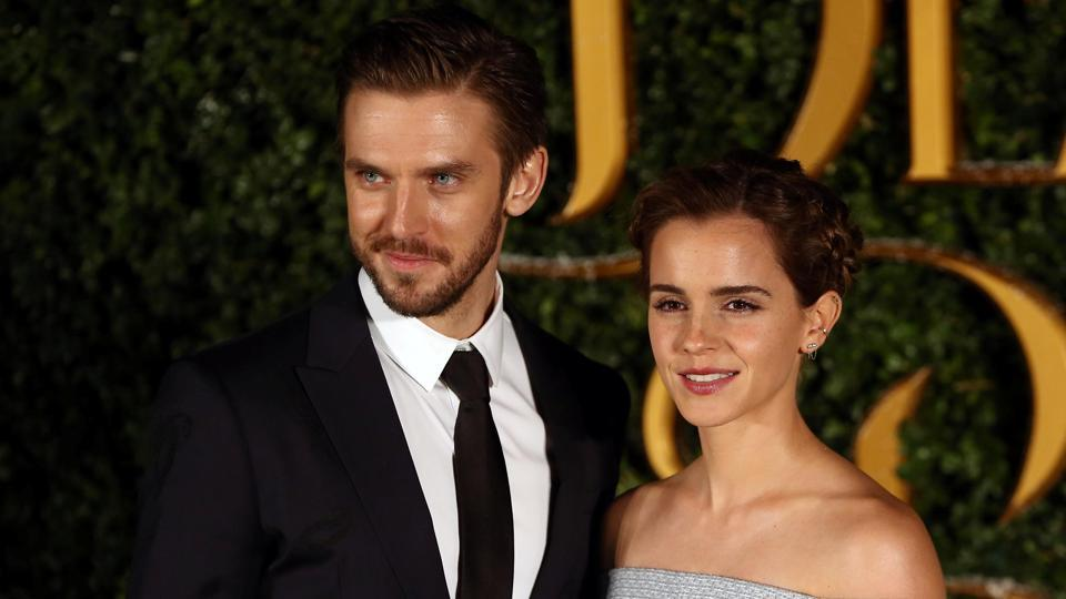 Her co-star from the film, actor Dan Stevens was not looking too bad himself. (REUTERS)