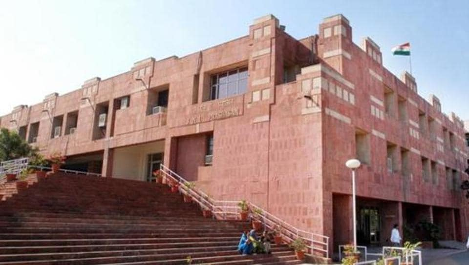 JNU's administrative block. The delegation sought the intervention of the President to ensure that there is no seat cut in the university.