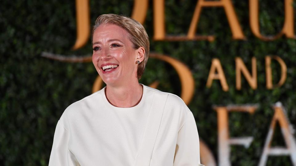 English actor Emma Thompson lit up the event with her beautiful smile. She plays Mrs Potts in the film. (AFP)