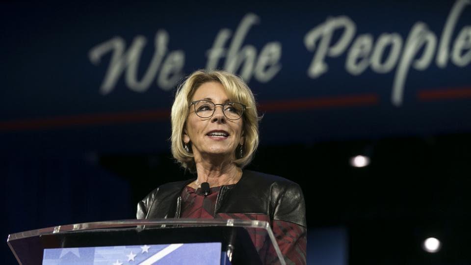 US education secretary Betsy DeVos.