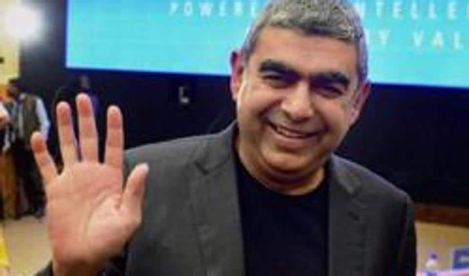 Infosys Technologies CEO Vishal Sikka at the announcement of the 3rd quarter financial results of the company at its headquarters in Bengaluru