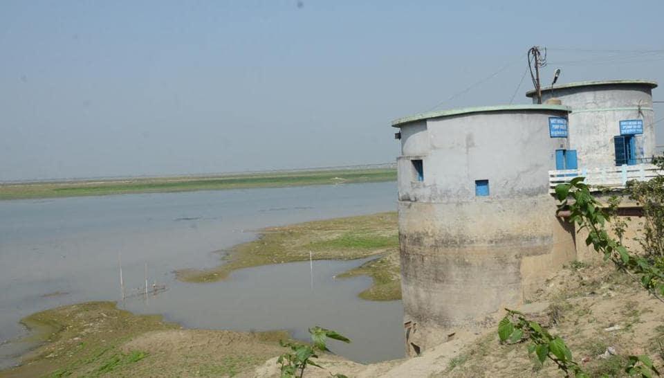 Ganga,water level,Barari Water Works