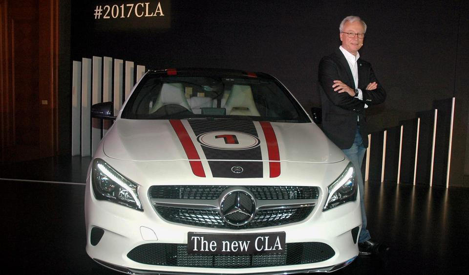 Managing director and CEO of Mercedes-Benz India Roland Folger during the launch of the new CLA in Mumbai.