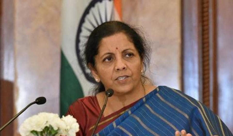 Union Commerce & Industry Minister Nirmala Sitharaman addressing a press conference in New Delhi.