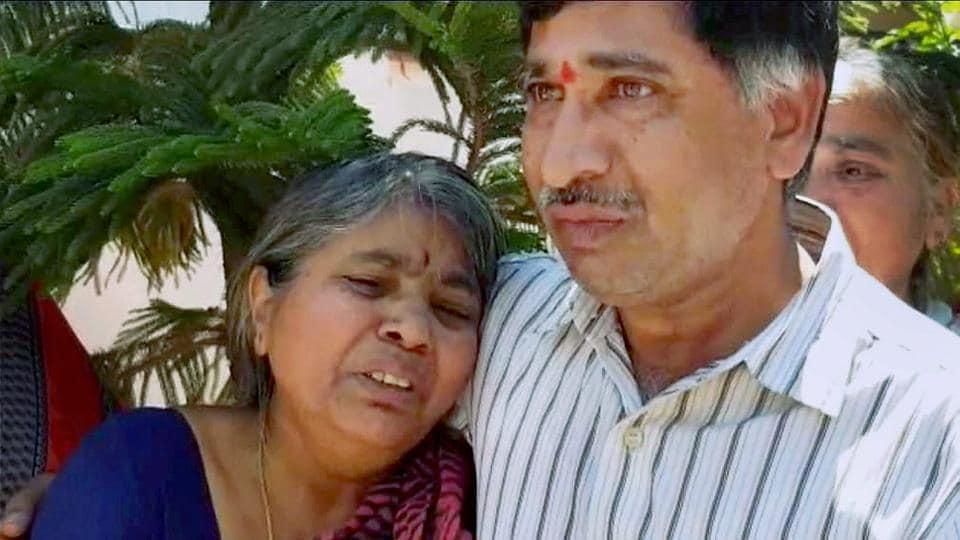 Parents of engineer Srinivas Kuchibhotla mourn his death in Hyderabad. Kuchibhotla was killed in a shooting at a bar in Kansas City.