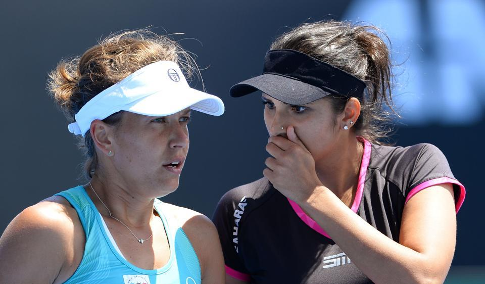 Sania Mirza and Barbora Strycova lost in the semifinals of the Dubai Open