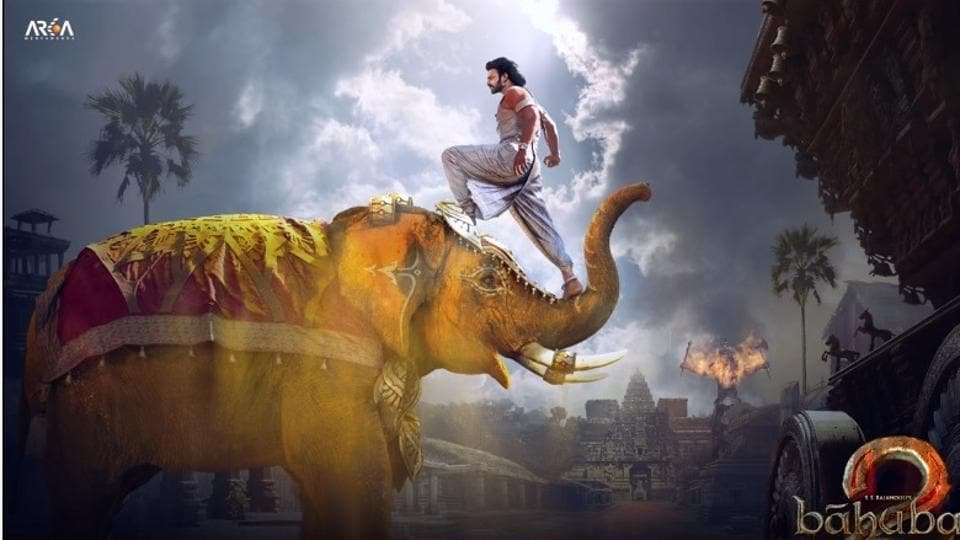 In this motion poster, we get to see a bit more of what looks like Mahishmati apart from Prabhas as Amarendra Baahubali.
