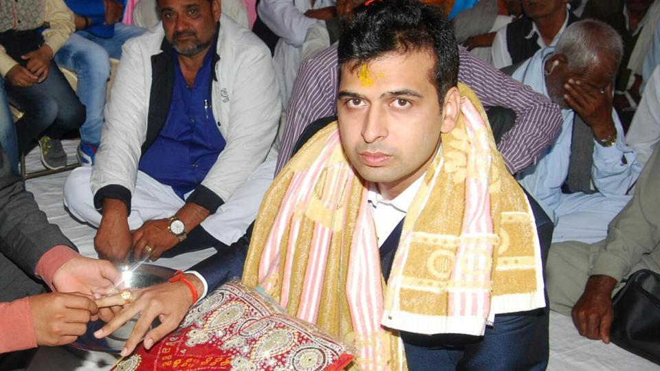 Pradeep Lamba at one of the functions held before his marriage to Priyanka (name changed)