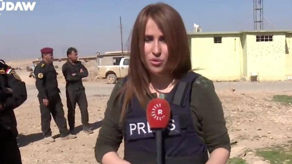 Kurdish,TV,reporter
