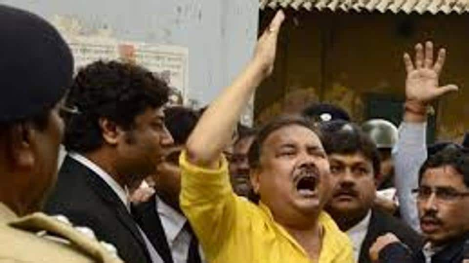 File picture of Madan Mitra in a court premises in 2016.