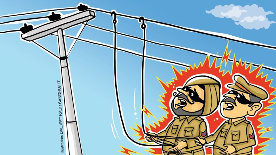 PSPCL,stealing electricity,cops caught