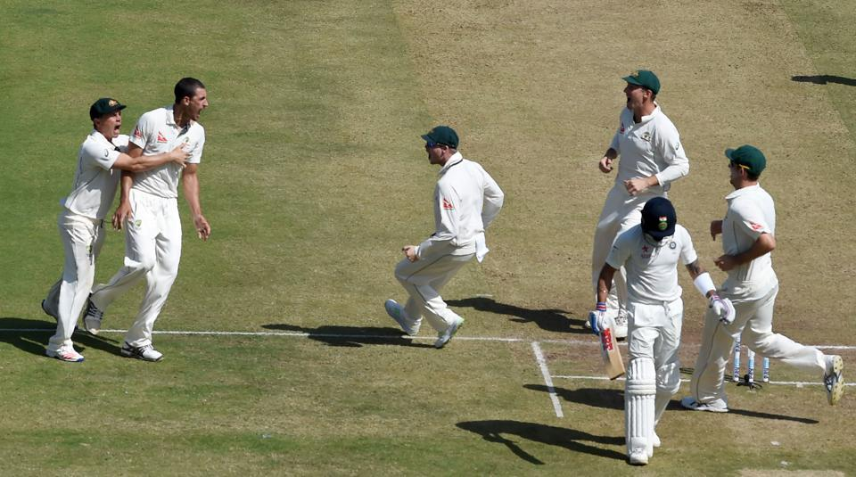 Virat Kohli scored 0 and 13 in the first India vs Australia Test in Pune.