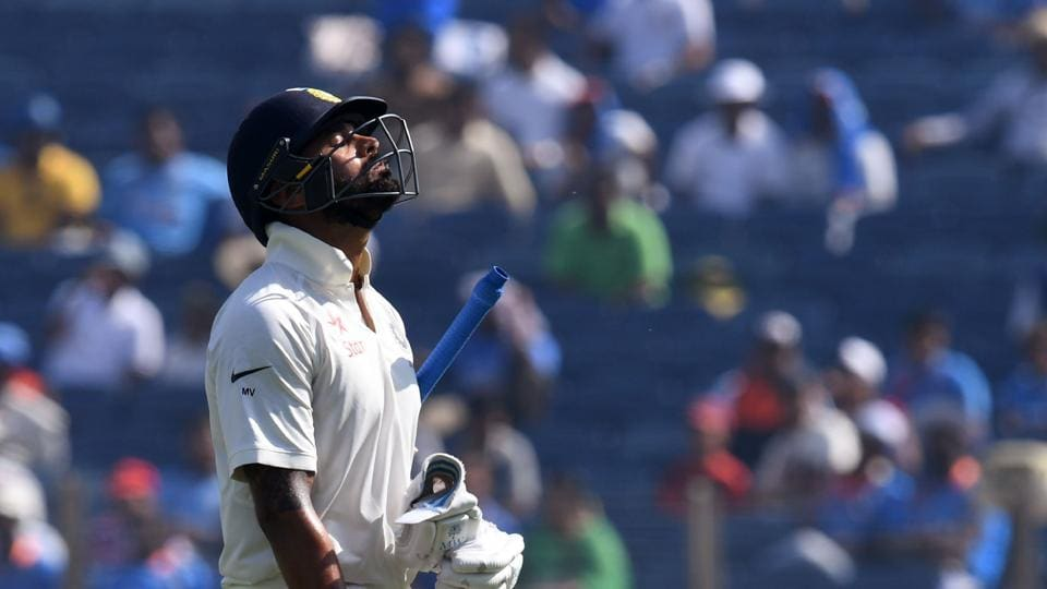 India's chase started on a bad note as openers Murali Vijay and KL Rahul fell cheaply. Both batsmen took review which were unsuccessful  (AFP)