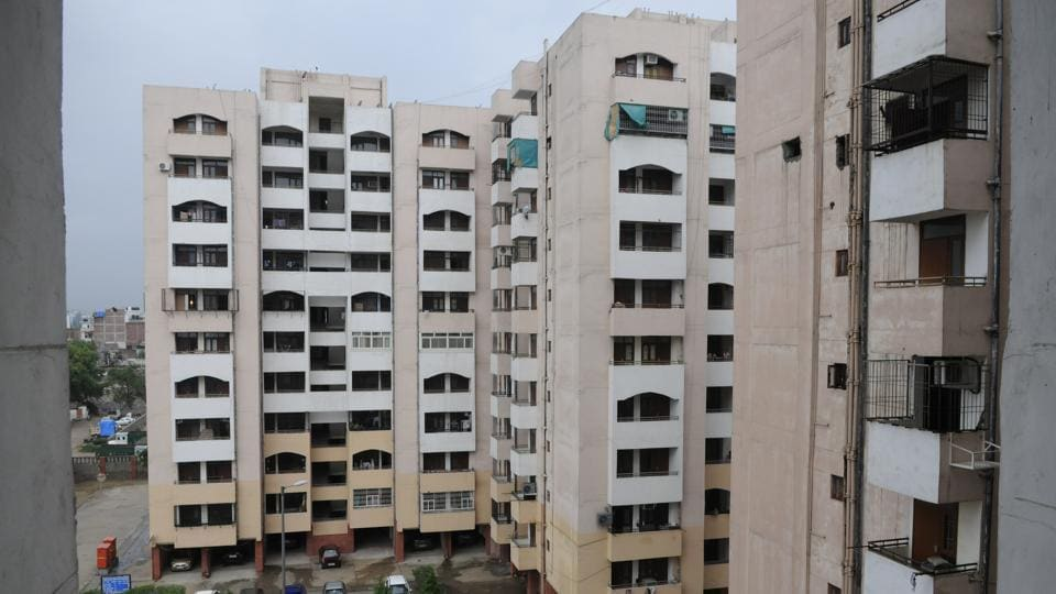 DDA, HIG flats at Jasola in New Delhi, India, on Wednesday, September 3, 2014. (Photo by Sushil Kumar/ Hindustan Times)