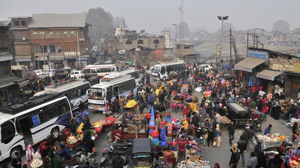 Scenes from Lal Chowk, Srinagar in November 2016.