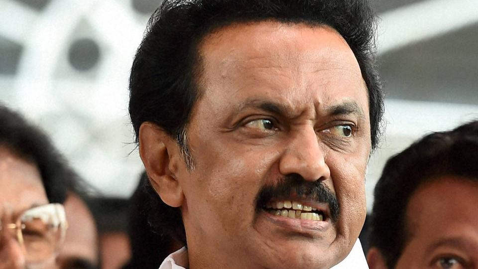 Tamil Nadu's leader of opposition in state assembly MK Stalin.