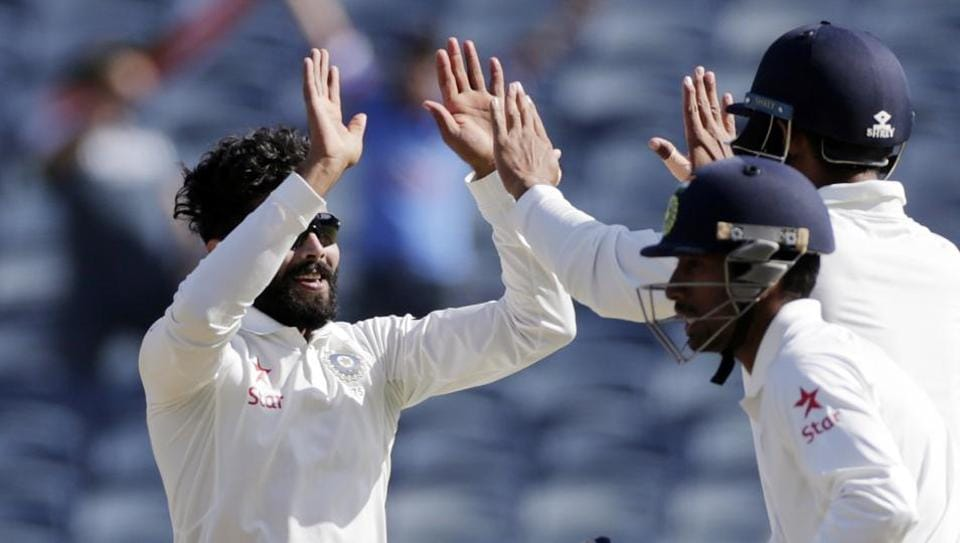Jadeja picked 3/65 in the second innings but Australia gave India a 441-run target. (AP)