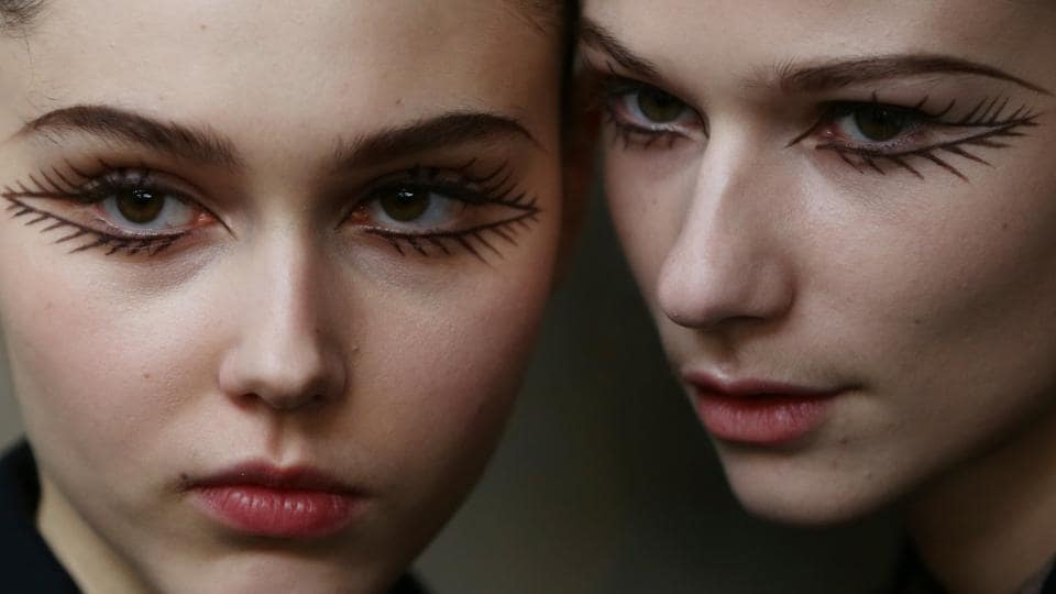 Models pose backstage of the Isa Arfen presentation during London Fashion Week in London, Britain. (Neil Hall/REUTERS)