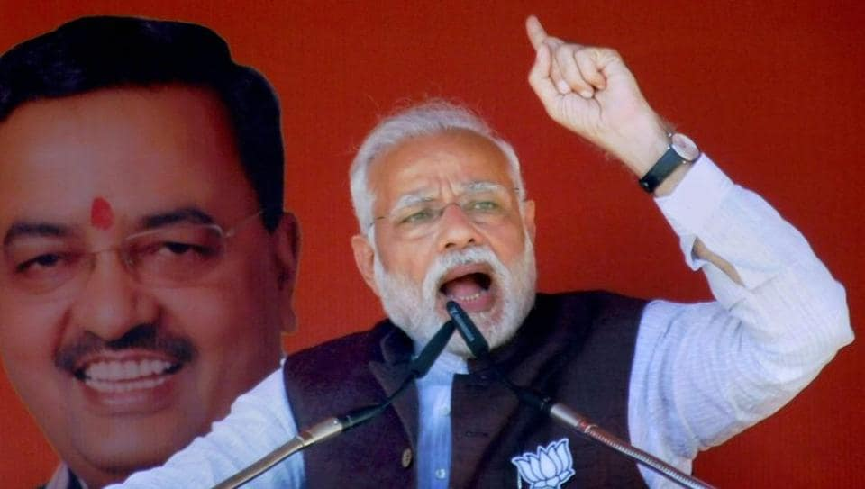 Prime Minister Narendra Modi will address an election rally in Imphal on Feb 25.
