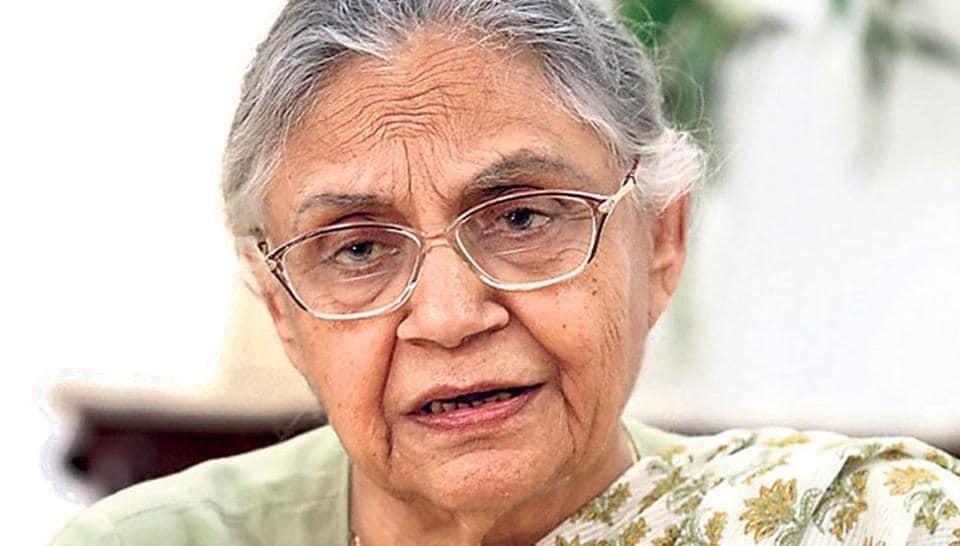 Former Delhi CM and senior Congress leader Sheila Dikshit